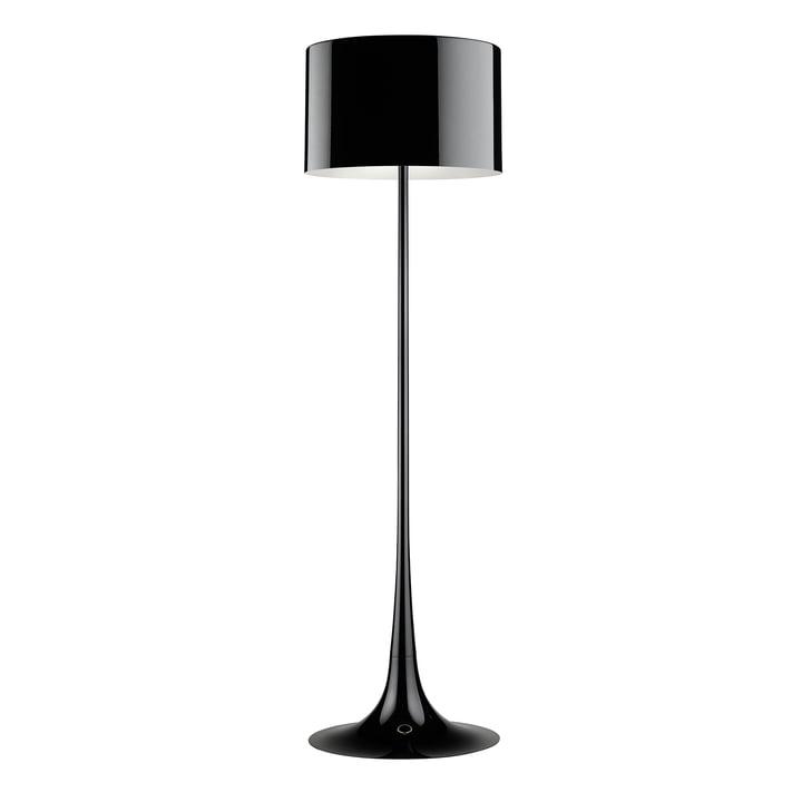 Flos - Spun Light Stehleuchte, schwarz glänzend