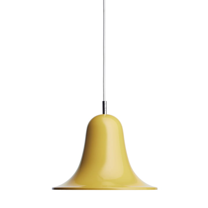 Die Pantop Pendelleuchte von Verpan in gelb
