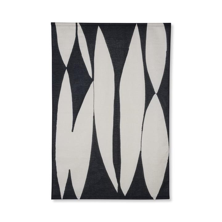 Abstraktes Wandbild, 97 x 147 cm, schwarz / weiß von HKliving