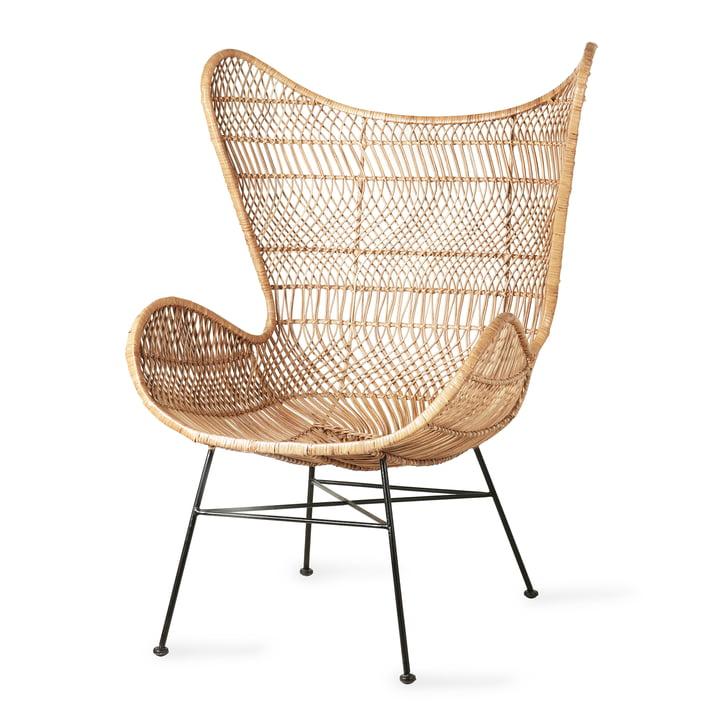 Rattan Egg Chair Bohemian, natur von HKliving