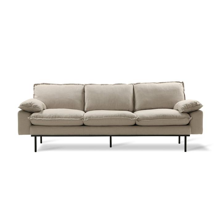 Retro Sofa, 3-Sitzer, beige von HKliving