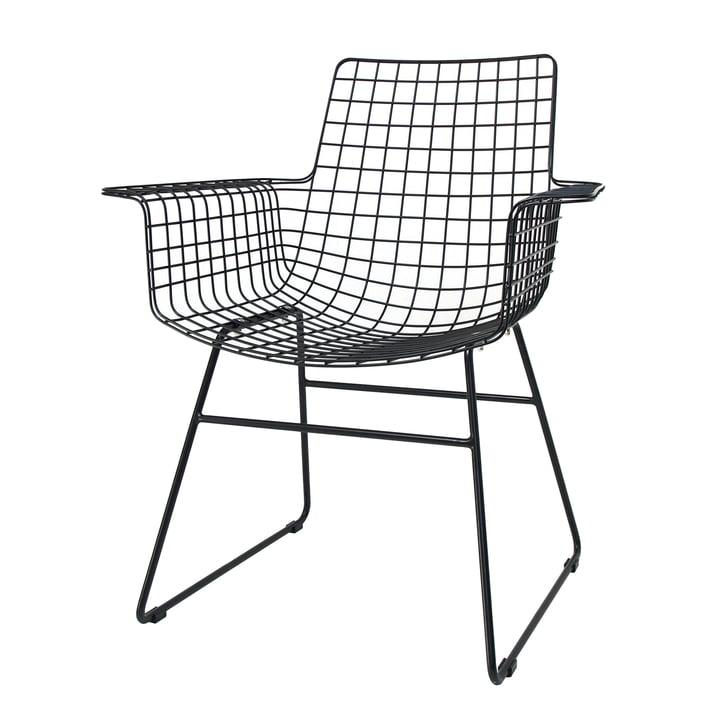 Wire Arm Chair, schwarz von HKliving