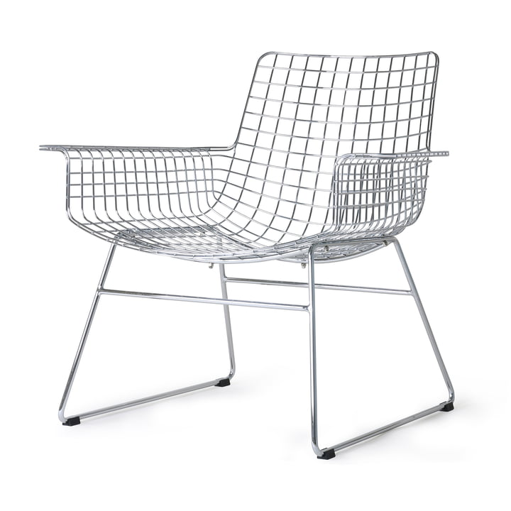 Wire Lounge Chair, Chrom von HKliving