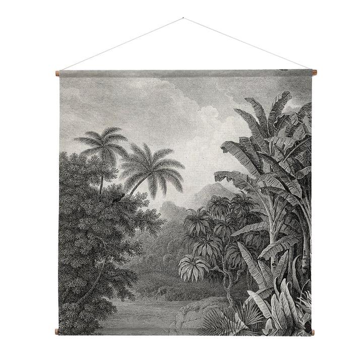 XXL Jungle Wandbild, 154 x 154 cm, schwarz / weiß von HKliving
