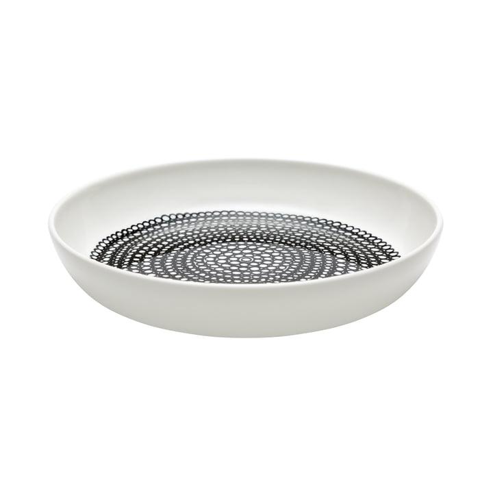 Der Oiva Räsymatto Teller tief von Marimekko in schwarz / weiß, Ø 20,5 cm