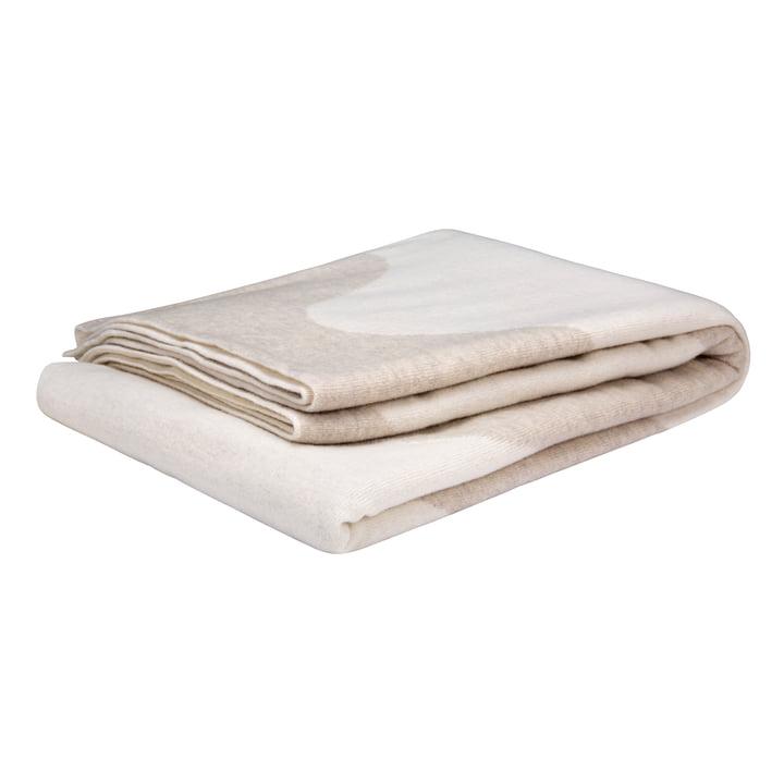 Die Lokki Wolldecke von Marimekko in weiß / beige
