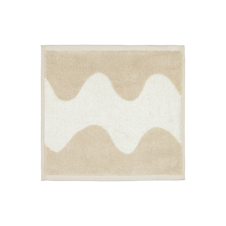 Das Lokki Mini-Handtuch von Marimekko in beige / weiß