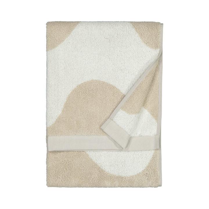 Das Lokki Handtuch von Marimekko in beige / weiß