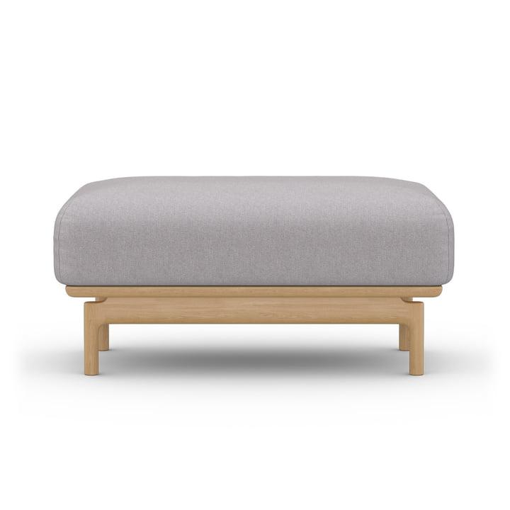 Der Hocker Air von Sit with us in steingrau Modesto, Basis aus Eichenholz
