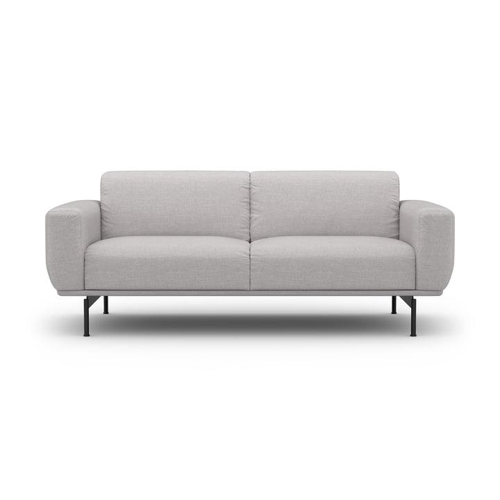 Das 2-Sitzer Sofa Air von Sit with us in hellgrau Nobile, Kufe aus Schwarzchrom