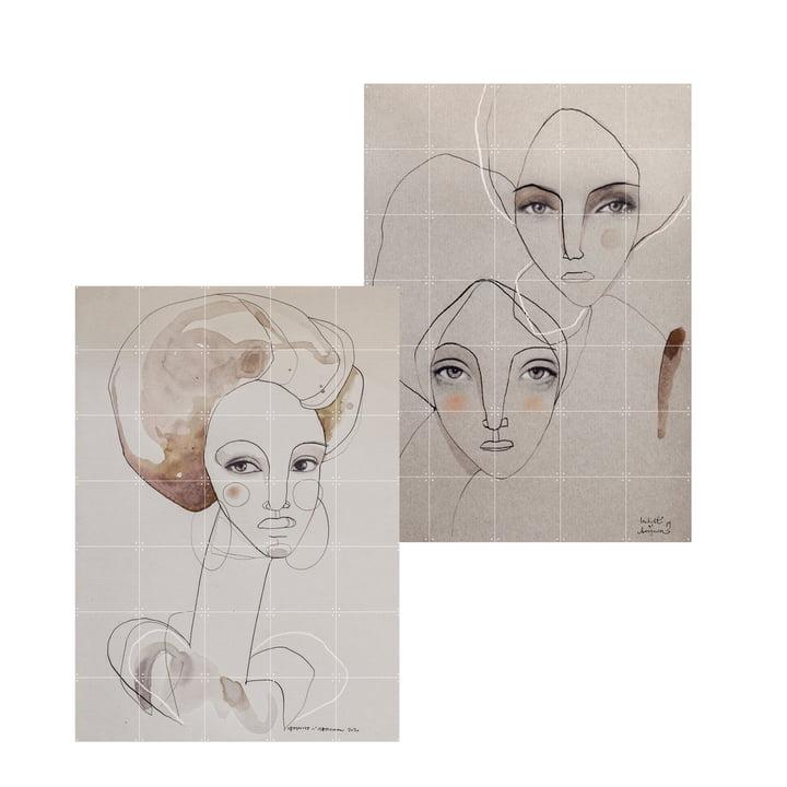 Das 2 in 1 Poet, Pepper and Pearl Wandbild von IXXI besteht aus stabilen Karten