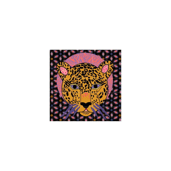 Das Jaguar Wandbild von IXXI besteht aus zusammensetzbaren Karten