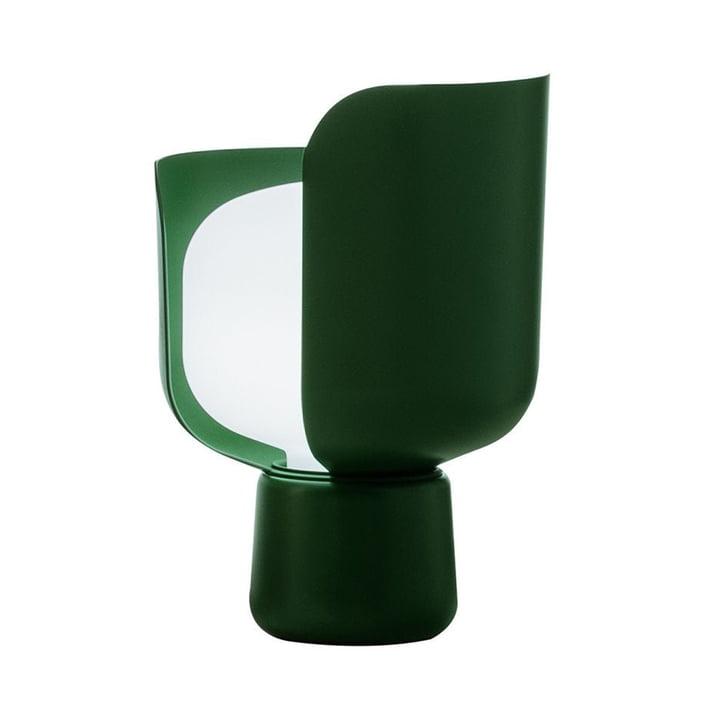 Die Blom Tischleuchte von FontanaArte in grün