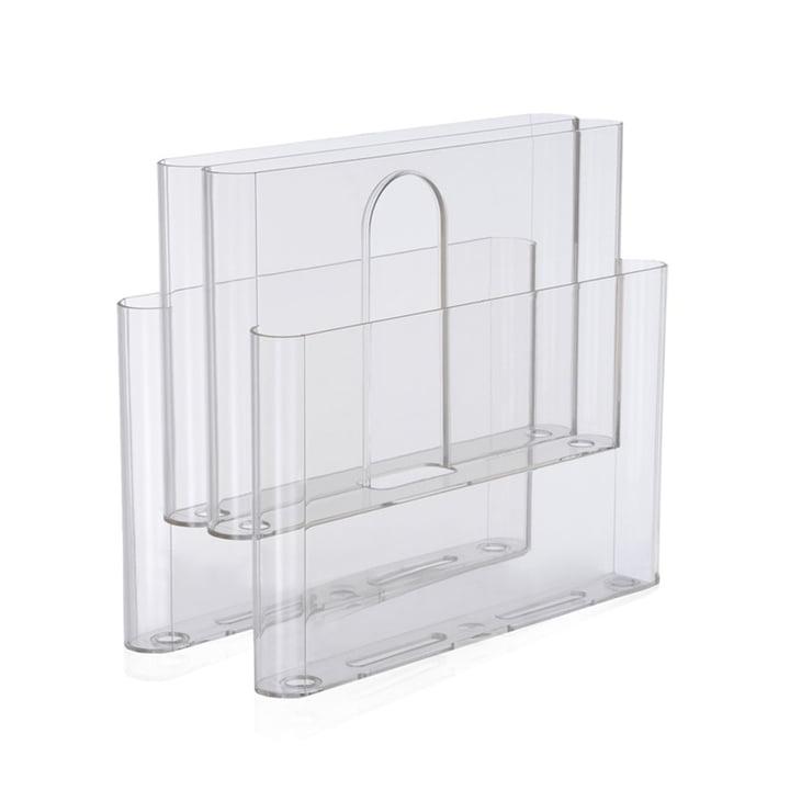 Zeitschriftenständer mit vier Taschen von Kartell in transparent