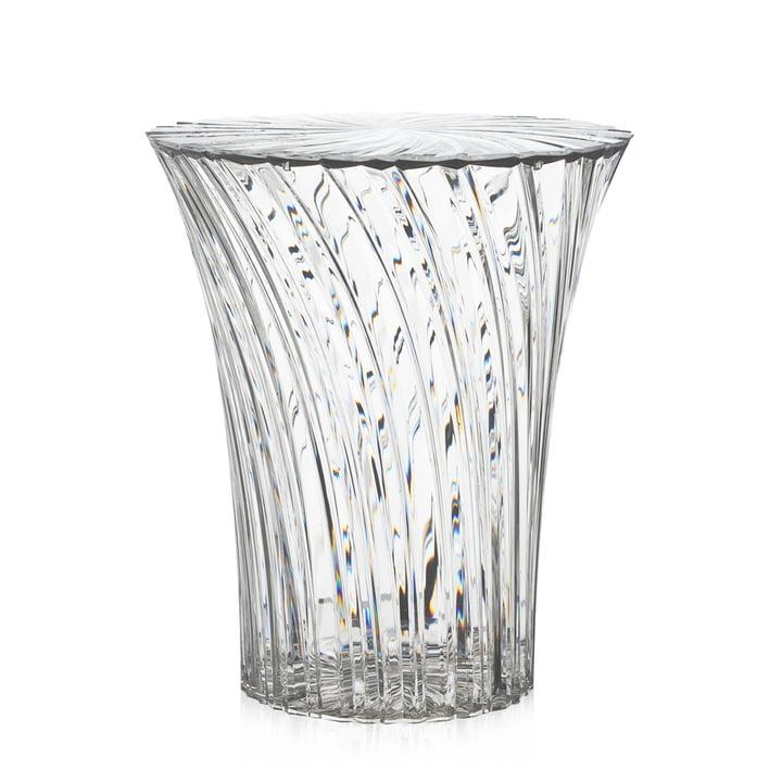 Sparkle Hocker und Beistelltisch Ø 38 cm von Kartell in glasklar