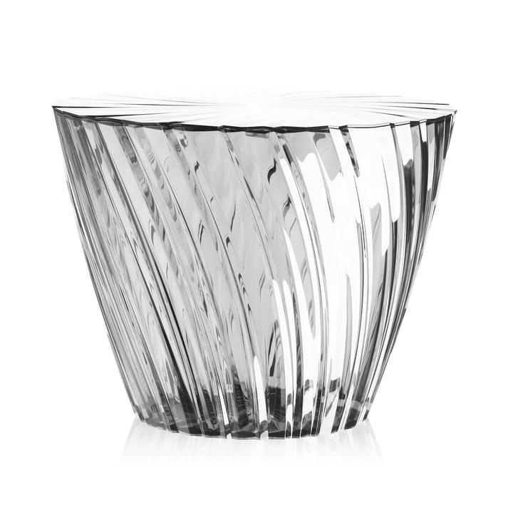 Sparkle Hocker und Beistelltisch Ø 45 cm von Kartell in glasklar