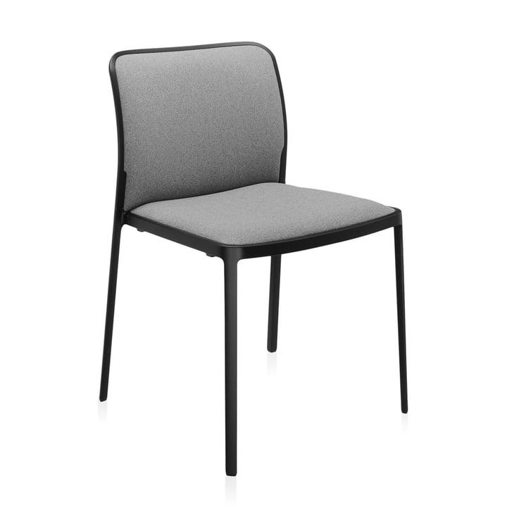 Audrey Soft Stuhl von Kartell in schwarz / grau