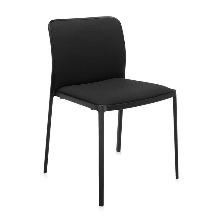 Audrey Soft Stuhl von Kartell in schwarz / schwarz