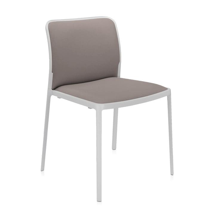 Audrey Soft Stuhl von Kartell in weiß / beige
