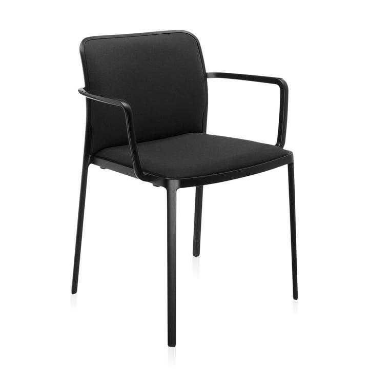 Audrey Soft Armlehnstuhl von Kartell in schwarz / schwarz