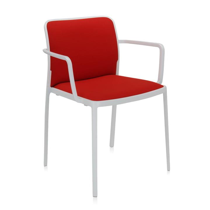 Audrey Soft Armlehnstuhl von Kartell in weiß / rot