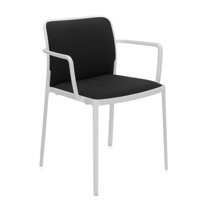 Audrey Soft Armlehnstuhl von Kartell in weiß / schwarz