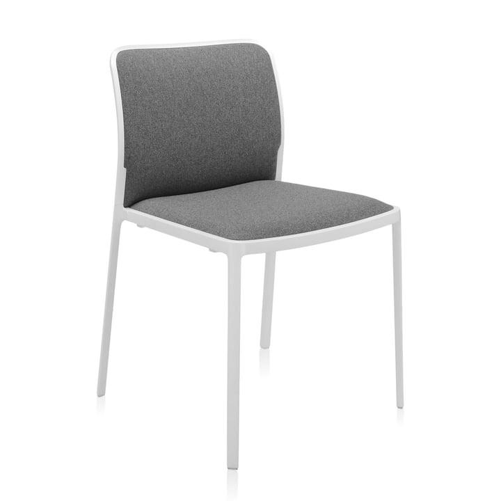 Audrey Soft Stuhl von Kartell in weiß / grau