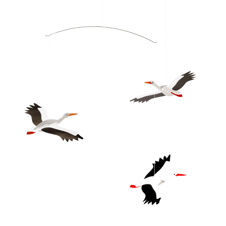 Lucky Storks Mobile von Flensted Mobile