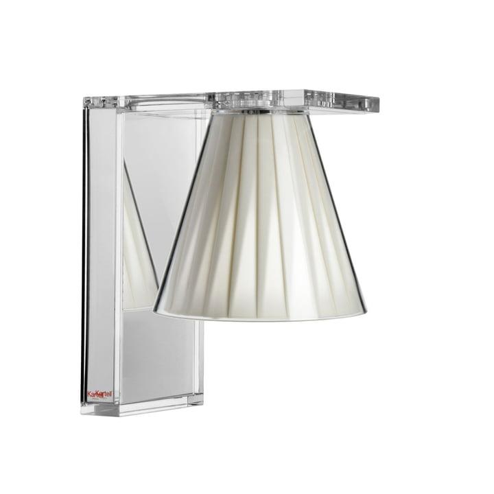 Light-Air Wandleuchte, glasklar / beige von Kartell