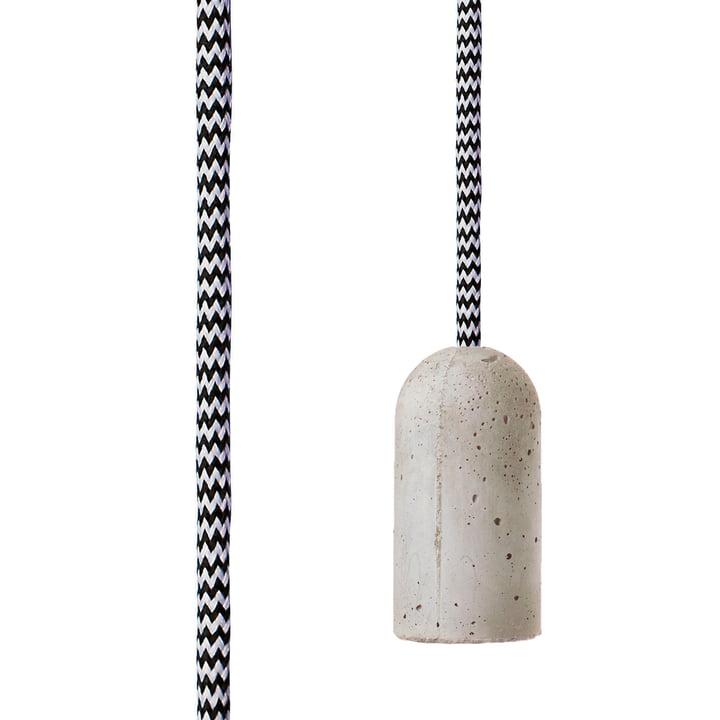Base Concrete von NUD Collection mit Zebra Skin (TT-90) und LED Spiral 125 mm (EU)