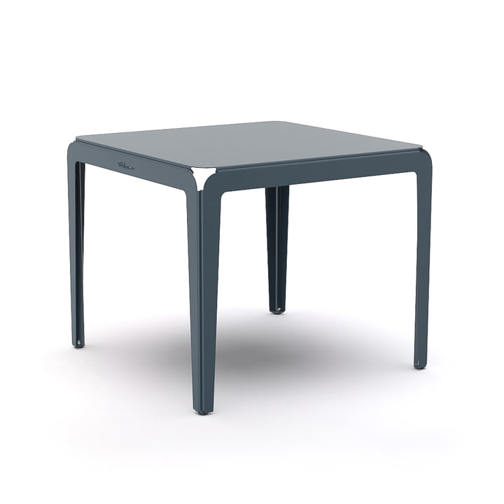 Der Bended Table Bistrotisch von Weltevree, 90 x 90 cm, graublau