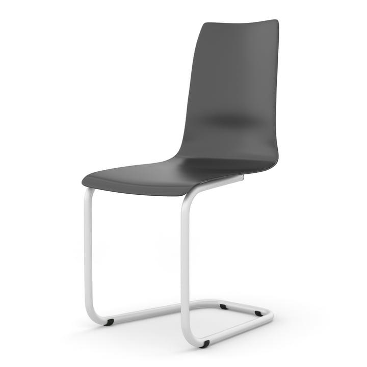 Freischwinger Stuhl von Tojo in schwarz