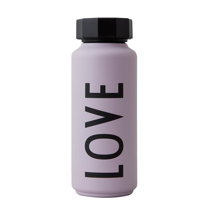 Die AJ Thermosflasche Hot & Cold von Design Letters, 0,5, Love / lavendel (Sonderedition)