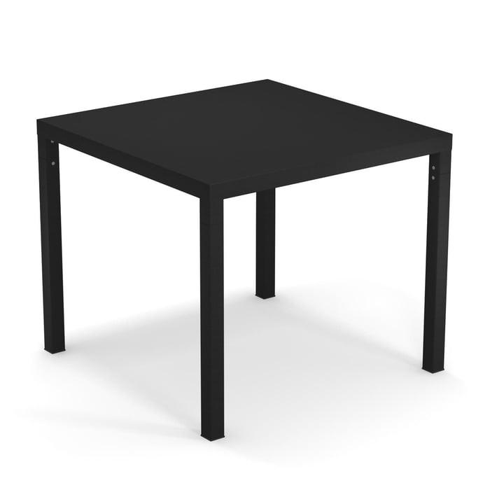 Der Nova Tisch von Emu in schwarz, 90 x 90 cm
