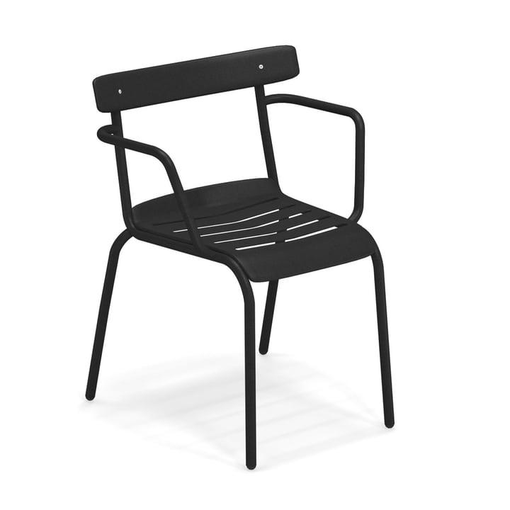 Der Miky Armlehnstuhl von Emu in schwarz