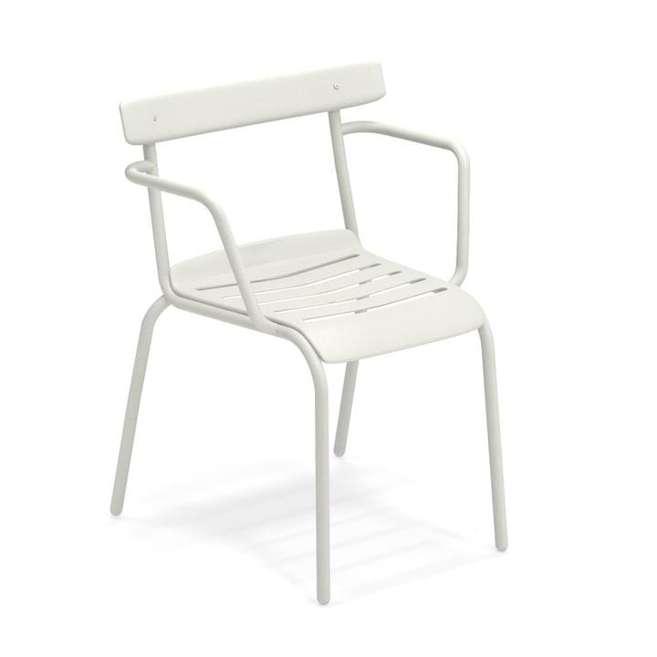 Der Miky Armlehnstuhl von Emu in weiß