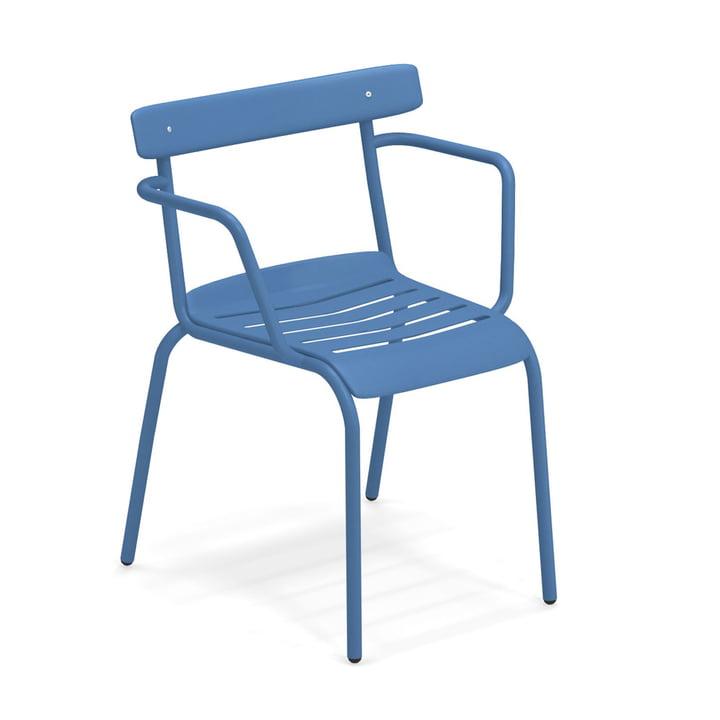 Der Miky Armlehnstuhl von Emu in blau