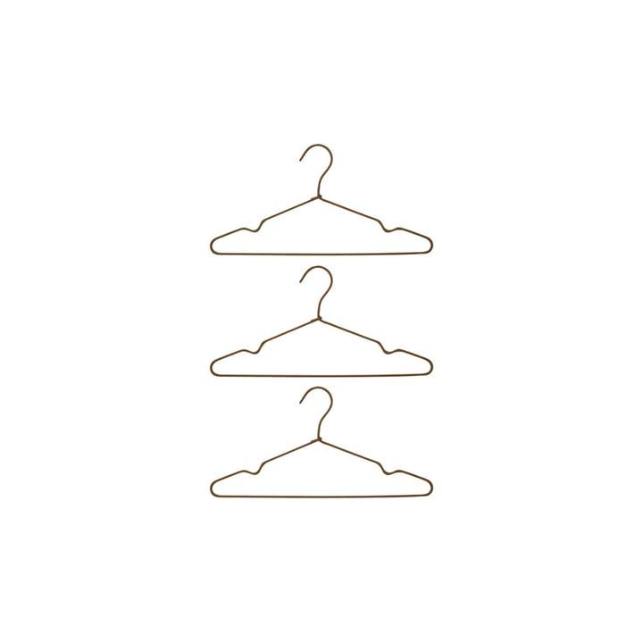 Die Wire Kleiderbügel von House Doctor in braun (3er Set)