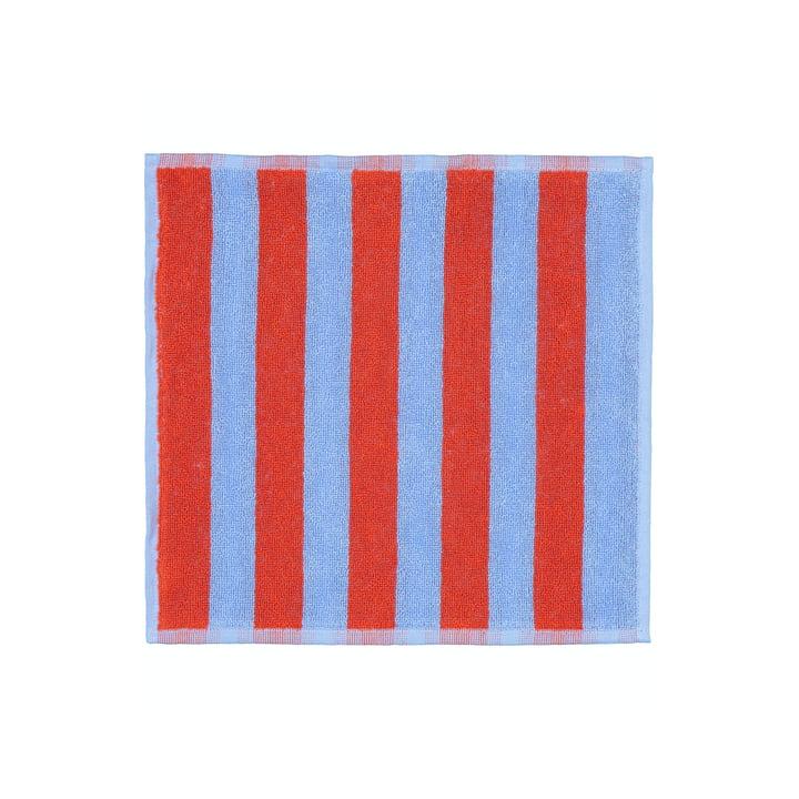 Marimekko - Kaksi Raitaa Mini-Handtuch 30 x 30 cm, blau / rot