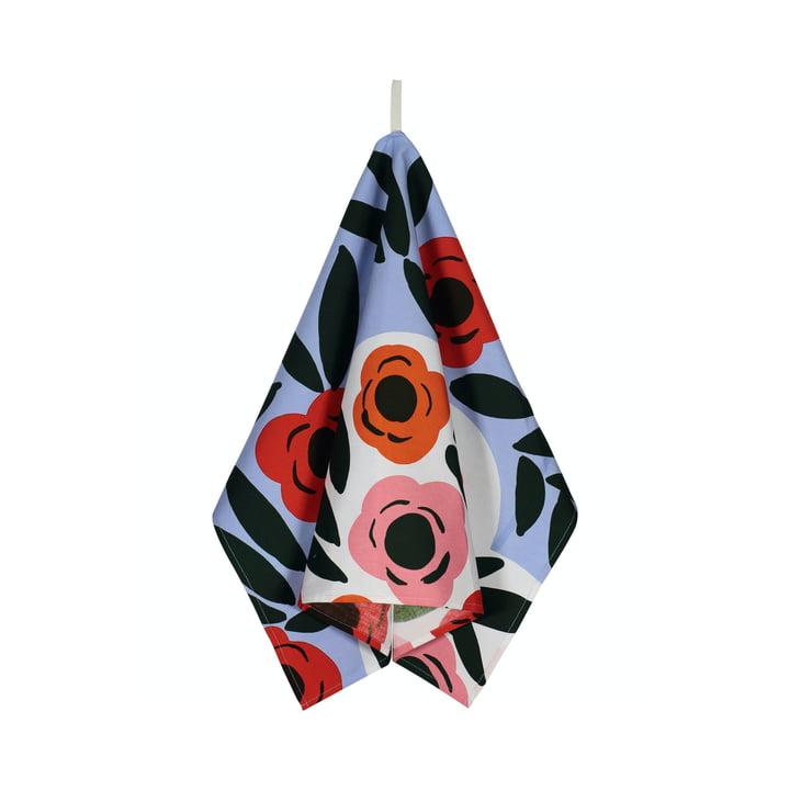Das Ruukku Geschirrtuch von Marimekko, hellblau / rot / dunkelgrün