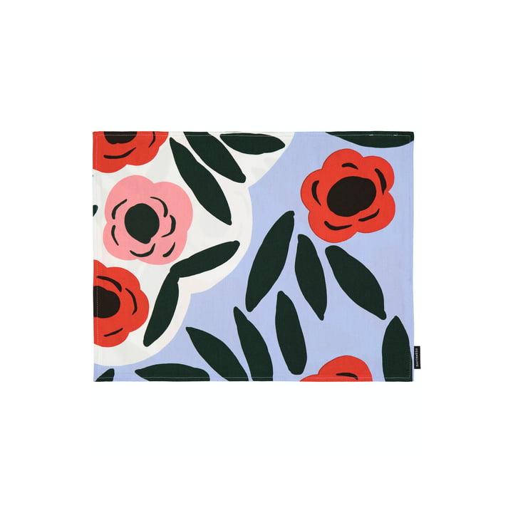 Das Ruukku Tischset von Marimekko, hellblau / rot /dunkelgrün