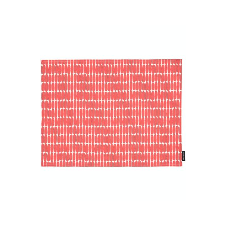 Das Alku Tischset von Marimekko, 31 x 42 cm, weiß / rot