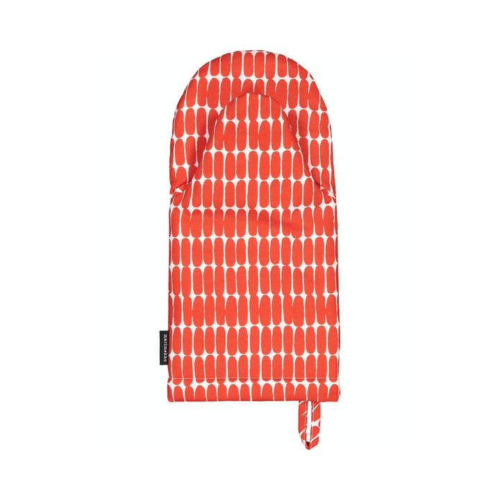 Der Alku Ofenhandschuh von Marimekko, weiß / rot