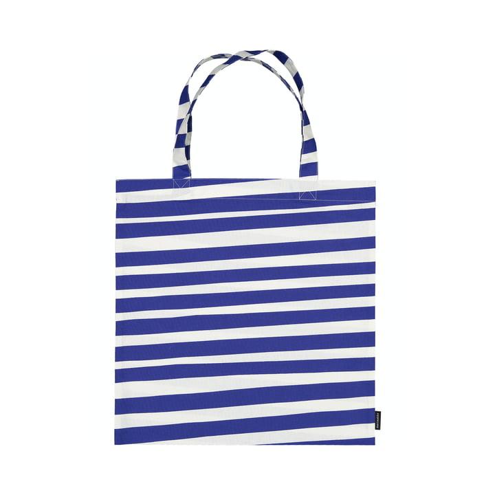 Die Uimari Einkaufstasche von Marimekko in weiß / blau