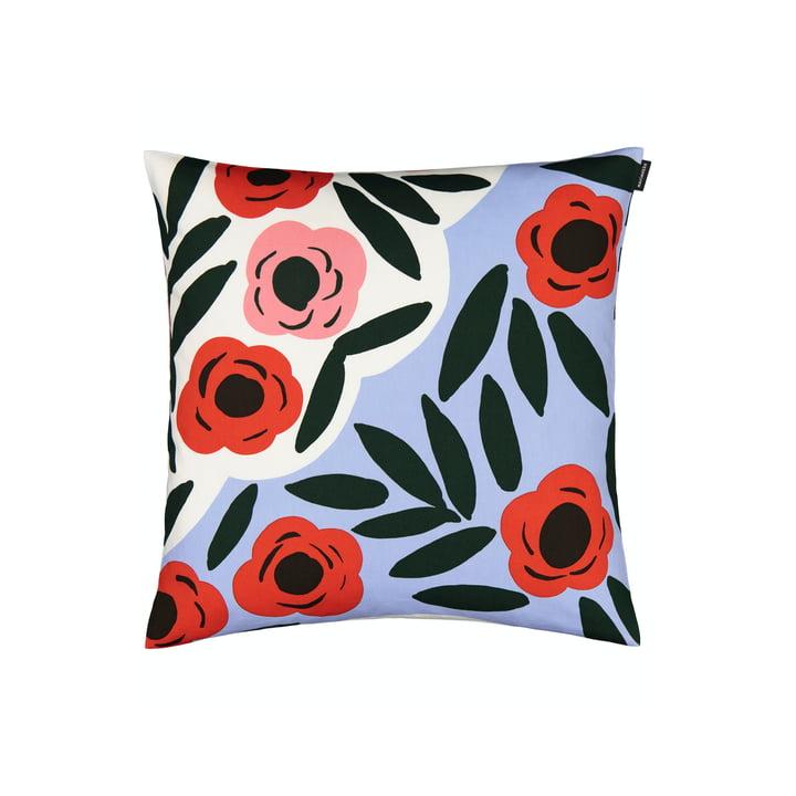 Der Ruukku Kissenbezug von Marimekko, 50 x 50 cm, hellblau / rot / dunkelgrün