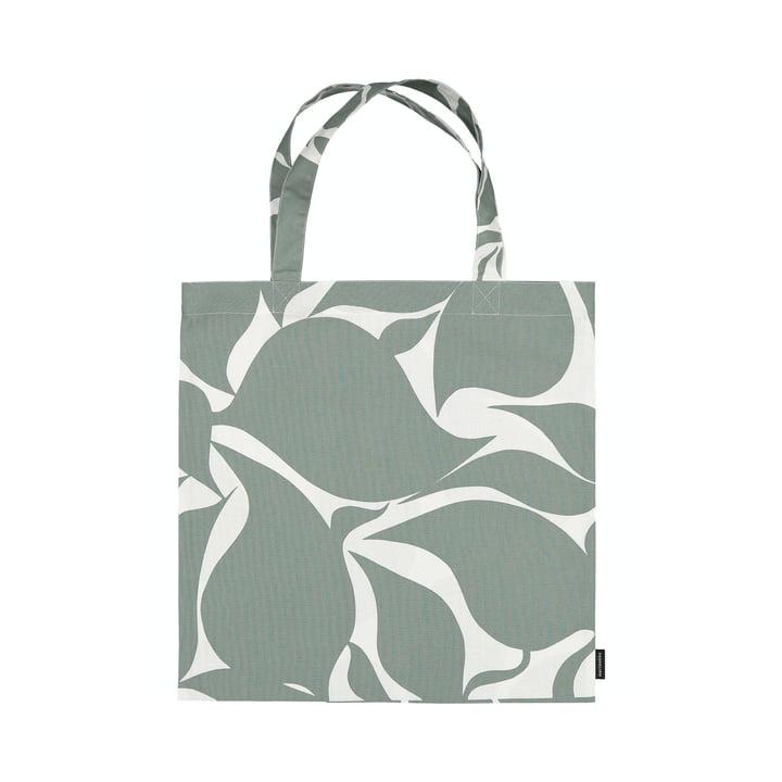 Die Ruudut Einkaufstasche von Marimekko in grün / weiß