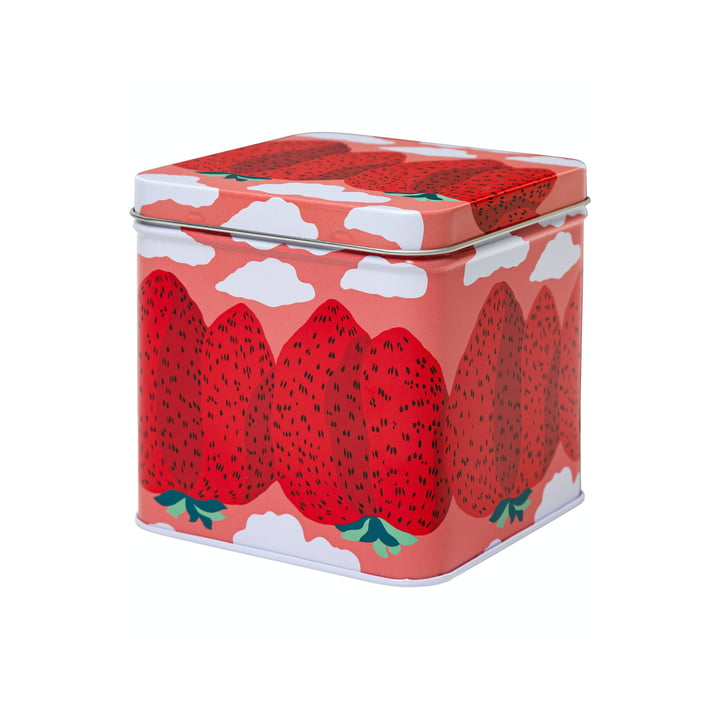 Die Mansikkavuoret Aufbewahrungsdose von Marimekko, pink / rot