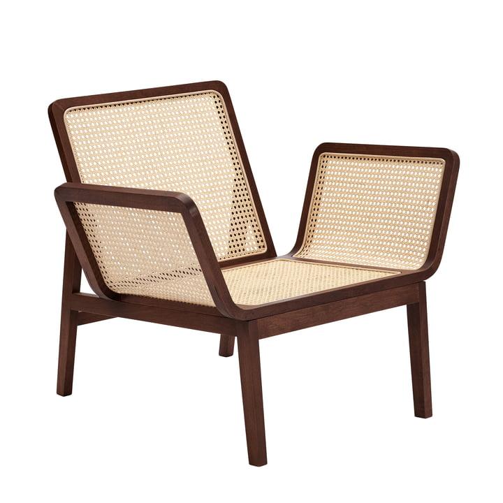 Le Roi Lounge Sessel mit Rohrgeflecht, Eiche dunkel gebeizt von Norr11