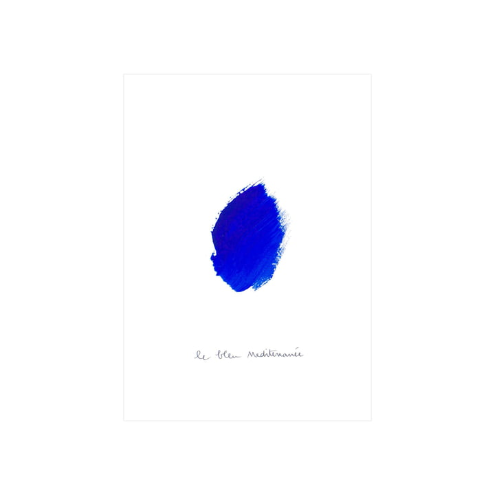 Le Bleu I Poster, 30 x 40 cm von Paper Collective