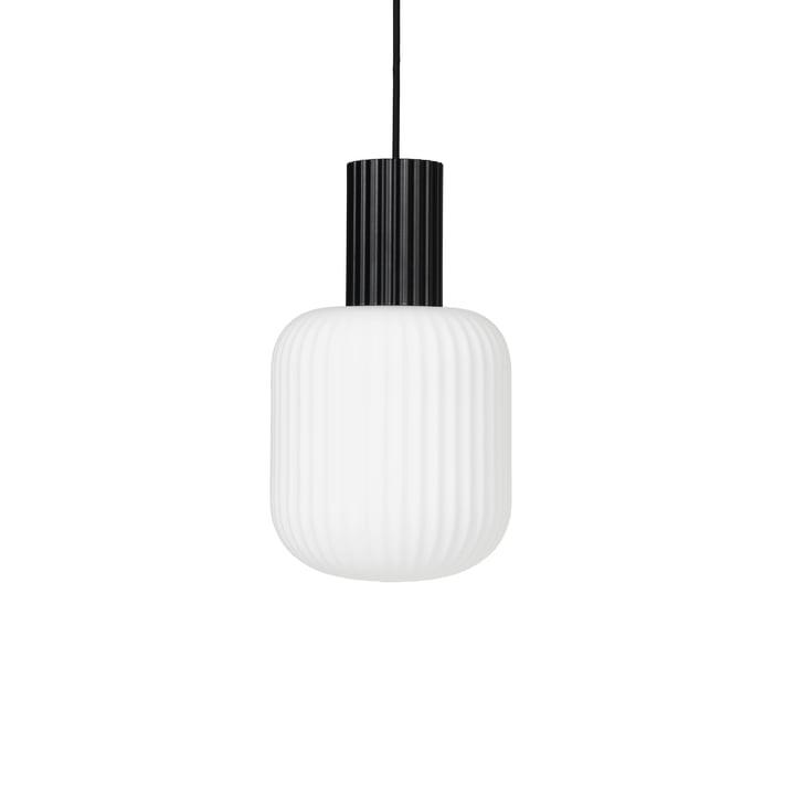 Die Lolly Pendelleuchte von Broste Copenhagen in schwarz / weiß, Ø 20 cm